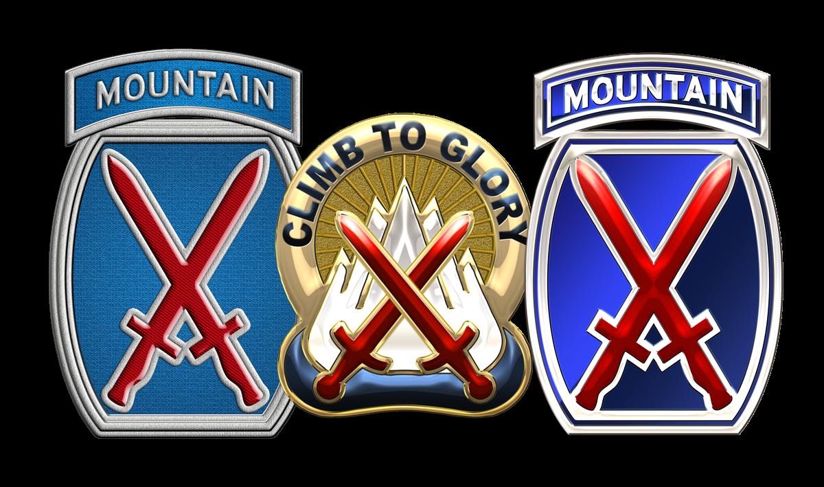 Military Insignia 3D : 10th Mountain Division Association Logo